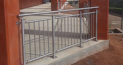 Stainless steel balustrade at KIA